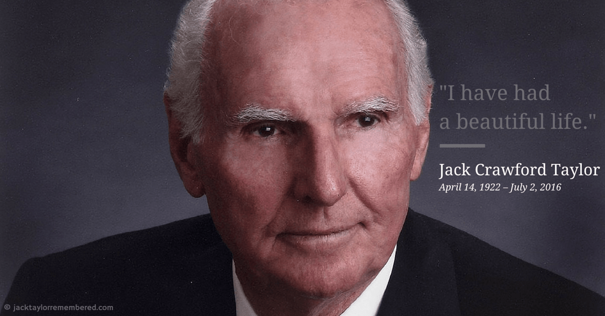 Jack Crawford Taylor, Founder of Enterprise Rent a Car, Dies at 94