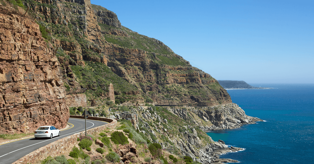 Chapmans Peak Drive towards Kommetjie