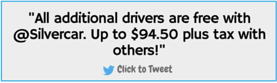 Additional drivers with Silvercar are free