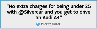 No extra charges for under 25 renters at Silvercar