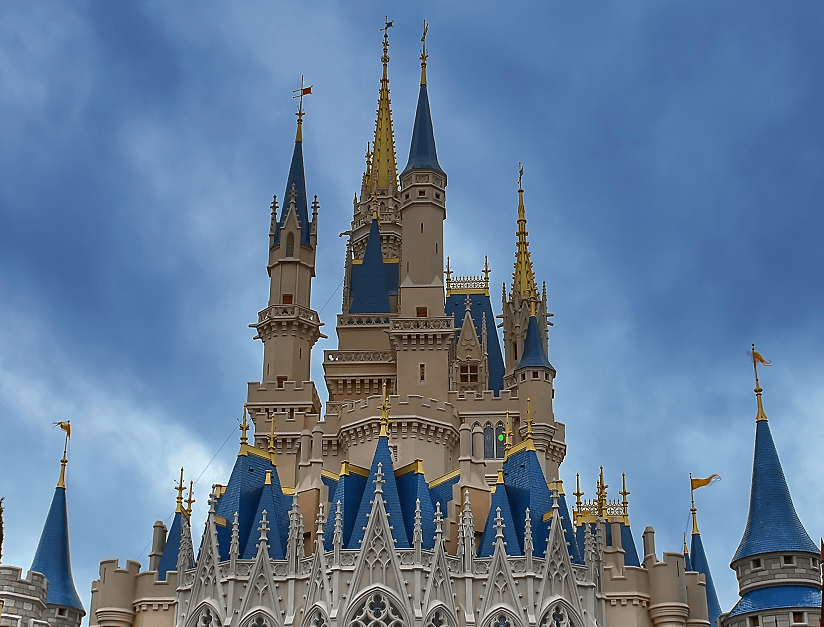 The famous Disney Castle in Orlando Florida