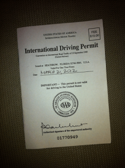 International Driving Permits