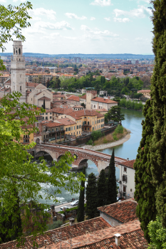 View of historical city of Verona