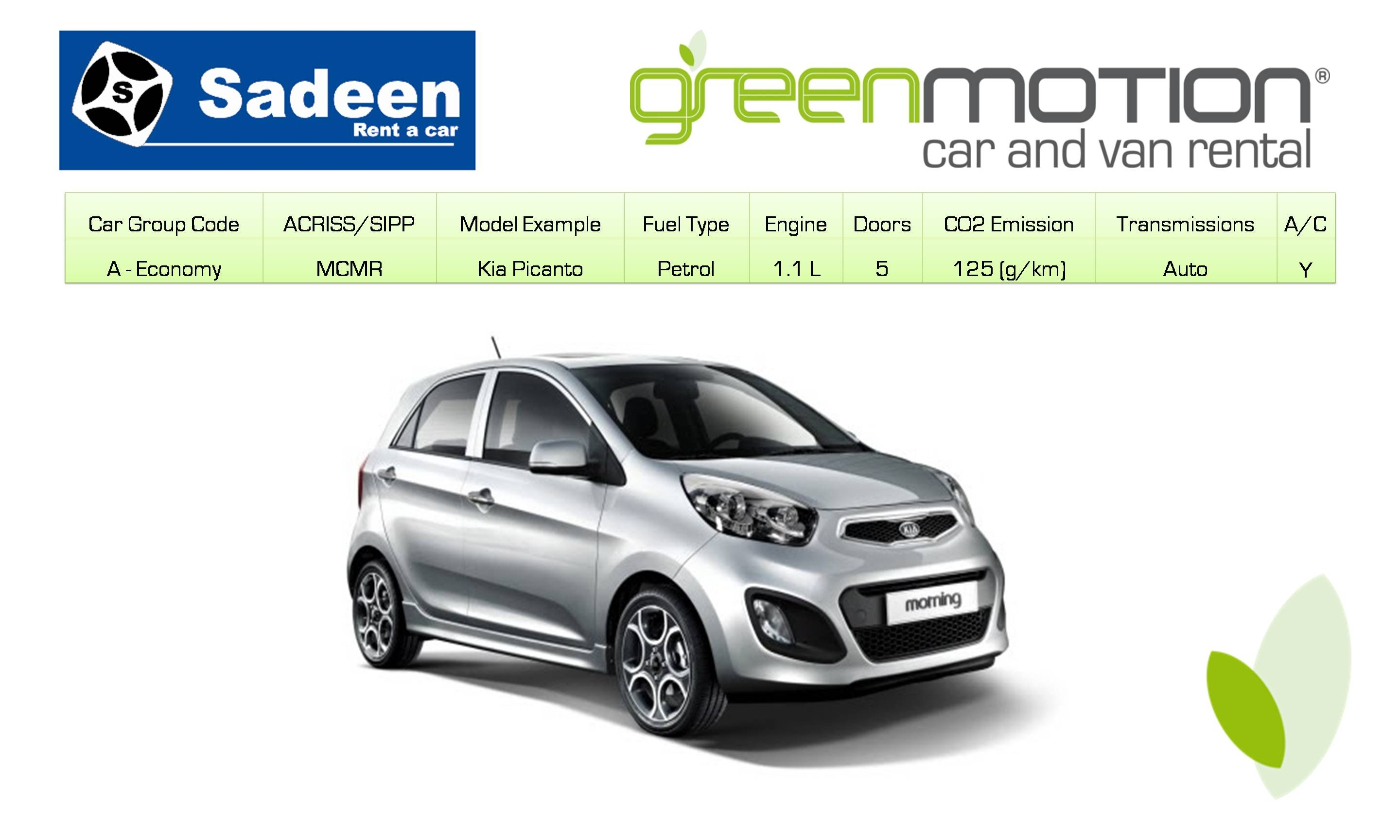 Green Motion Car Rental - Amman - Sadeen Hotel - Jordan