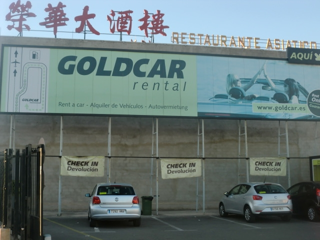 Goldcar Car Rental Valencia Airport