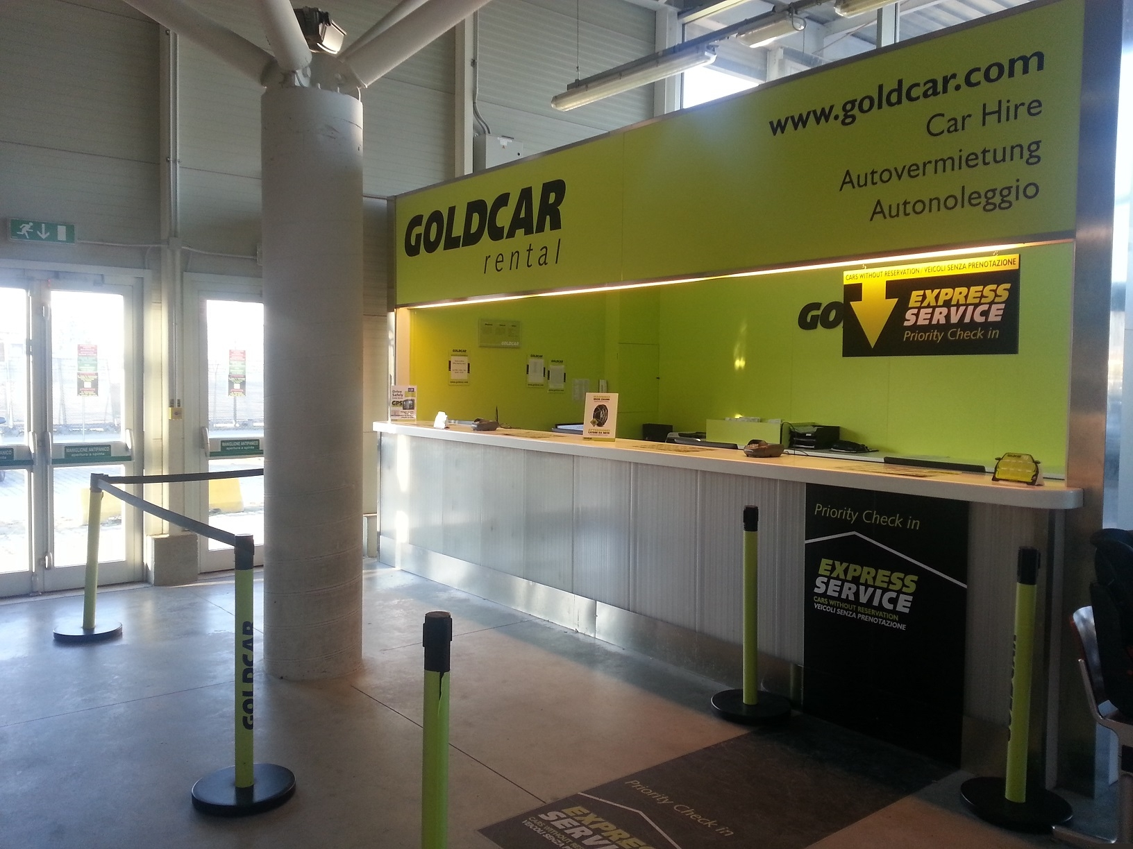Goldcar Car Rental - Pisa Galileo Galilei Airport - PSA - Italy